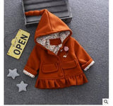 2018 A undertakes to Girls cotton jacquard paragraph coat in winter Hooded jacket foreign trade children's clothes