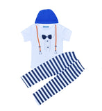 2016 NEW Design Baby Boy Romper set Hand-painted patterns romper+pants+cap/bib Summer suit Cute Baby Romper Newborn Clothes girs