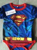 2018 Newborn Baby Boy Clothes Ropa Bebe Cotton Short Sleeve Superman Baby Rompers Baby Costume Batman Birthday Baby Body Clothes