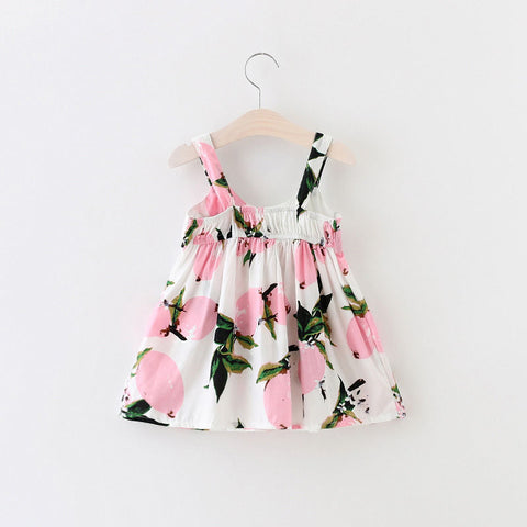 2018 Sundress Newborn Baby Dress Girls Lemon Print Dresses Summer Infant 0-3Year Girl Birthday Dress Clothes Holiday Clothing