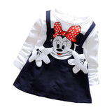 2018 baby dress lovely autumn Minnie long-sleeved T-shirt fashion style baby dress