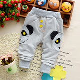 2018 new Spring Autumn Cartoon stickers cloth cotton good quality baby pants baby boy/girls pants 0-2 year children Harem pants