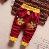 2018 spring & autumn new baby pants Pentagram and letters pattern cotton 1 piece sport pants baby boy / girls pants 0-2 year