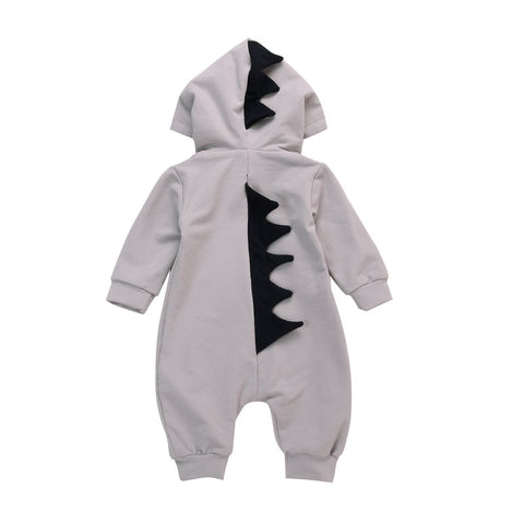 2017 Baby Rompers Newborn Hooded Cartoon Dinosaur Design Clothing Boys Long Sleeve Jumpsuits Girls Outerwear Baby Costume