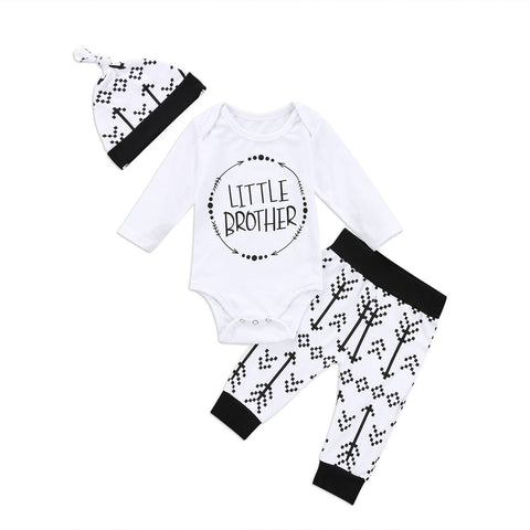 2017 Brand New Cute Newborn Toddler Infant Baby Boy Girl Matching Clothes Long Sleeve Tops Romper Pants H Outfits Autumn Set