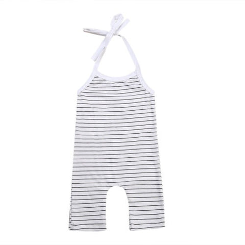 2018 New Newborn Baby Girl Boy Stripe Cotton Sleeveless Romper Jumpsuit Outfits Sunsuit Clothes