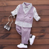 2017 Spring Autumn boy baby cothing suits for infant baby boys wear brand design gentleman casual sports shirt suit clothes sets