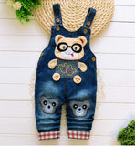 2018 Spring Cartoon cowboy Baby Belt pants cute Baby Boy Girl Boy pant High Quality Denim Overalls Infant Clothing Baby Clothes