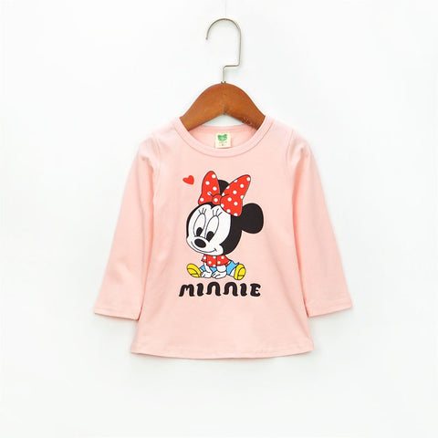 2018 new autumn girls' shirts long sleeve baby shirts cotton t-shirts 0-3 years baby clothing