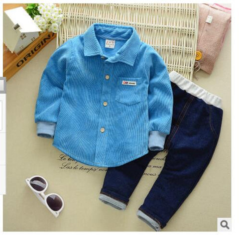 2017New Summer Baby Sport Suit 100% Cotton Fashion Design Baby Boys Clothing Set 0- 2 Years Old Brand Shirts 2pcs Free Shipping