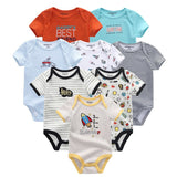 2018 8PCS/Lot Newborn Clothes 100%Cotton O-Neck 0-12M Baby Girls Boys Jumpsuit Bodysuits Roupas de bebe Short Sleeve Clothing