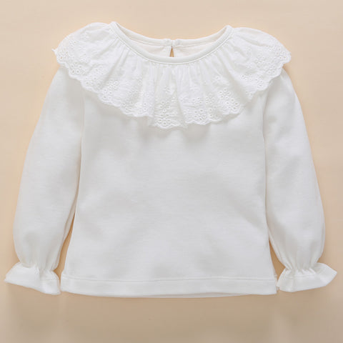 2018 Babies Bottoming Solid Fashion Shirt Spring And Autumn 0-3-6 Month Girls Cotton Top Newborn Baby Long-sleeved T-shirt New