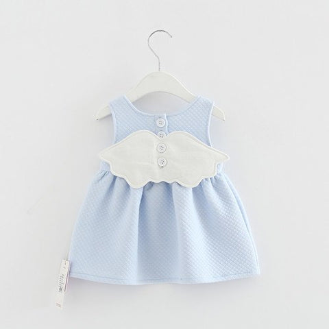 2018 Baby Angel Feathers Party Dress Princess Kids Children Infant Baby Dresses Baby Girls Dresses Newborn Baby Clothes 4 color