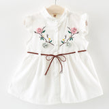 2018 Baby Girl Dress 1 year birthday dress infant christening gowns baby dress 0-2 years bowknot princess wedding Kids dress