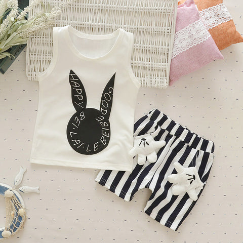 2018 Beach Wear for Baby Girls Boys Candy Colored Casual Vest Pants Banana Design Hot Day Cool Clothes Newborn Baby Lovely Cloth