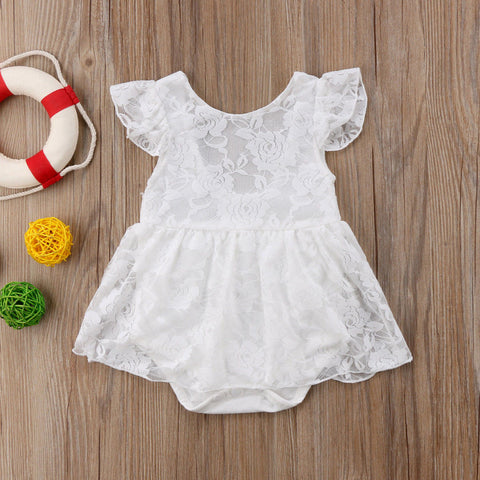 2018 Brand New Newborn Toddler Infant Baby Girls Lace Romper Jumpsuit Dress Floral Outfits Sleeveless Children Summer Sundress