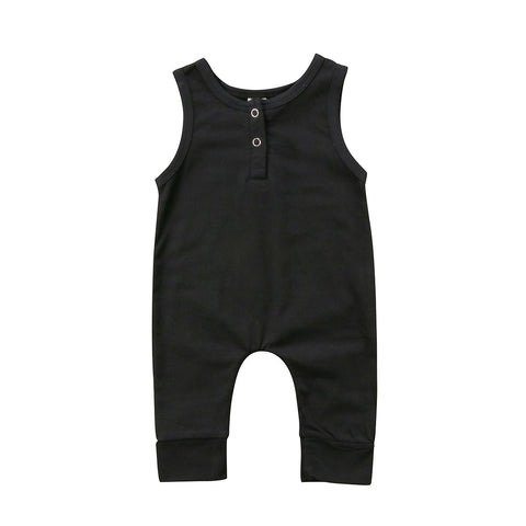 2018 Brand New Newborn Toddler Infant Kids Baby Girls Boys Romper Sleeveless Jumpsuit Harem Pants Clothes Solid Outfits 0-18M