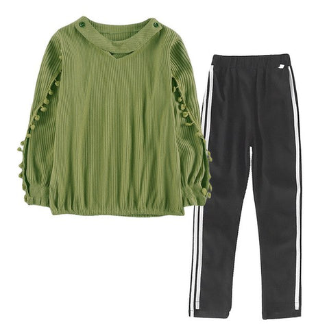 2018 Children Clothing Set Autumn Teenage Girls Clothes Kids Tshirt Pants Sports Suits For Girls Outfits 3 9 6 7 10 11 12 Years