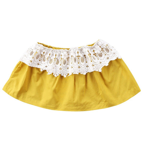 2018 Cute Newborn Baby Kid Girls Floral Lace Strapless Off Shoulder Cotton Tops Clothes Outfit Fashion Custom Clothing
