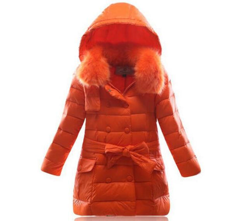 6977b9462 2018 Fashion Children Winter White duck down Jacket Girl Winter Co ...