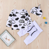 2018 Long Sleeve Hoodie Pullovers Hats Set For Boys Girls Clothes Sring Children Cartoon Design Cotton Clothes For Newborn Baby