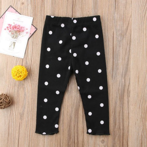 2018 Lovely Kids Baby Girls Clothes Legging Polka Dot Infant Girl Child Long Dot Pants Casual Trousers