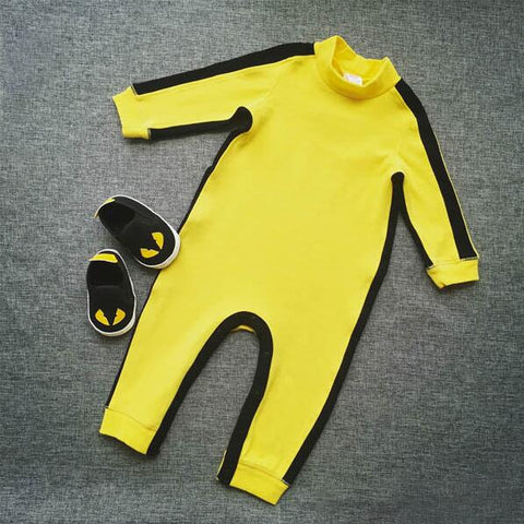 2018 NEW Baby Boys Clothes Romper Chinese Kong Fu Infant Jumpsuit Hero Bruce Lee Newborn Baby Costume Climbing Clothes