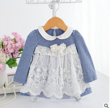 2018 New Arrival Autumn Winter Baby Girl Hoodies Peter Peter Pan Collar Long Sleeve Lace Hoodies Sweatershirt For 3M-2Years Old