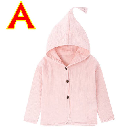 2018 New Arrival Baby Coats Casual Solid Color Fashion Clothes for Baby Girls Boys Hoodies Outdoor Babies Thin Cotton Outfits
