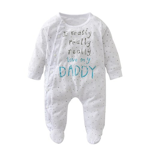 2018 New Baby Boy Clothes Boys Girls Clothing Baby rompers Baby Clothing I Love My Mom and Dad Unisex Long-sleeved Clothing Set