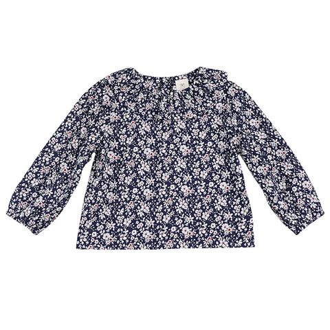 2018 New Cute Girls Blouse Baby Girls Solid Tops flower Collar Puff Sleeve Blouse Baby Girl Clothes