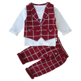 2018 New Spring Kids Clothes Baby Boy Clothing Sets 3PCS Gentleman Suit Toddler Boys Clothing Kids Boy Clothes Set Party Dress