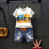 2018 New Summer Body Suit Girls Boys T-shirts Clothes Unisex Tops for Babies Fashion Design Casual T-shirts Denim Brand New Pant