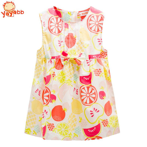 2018 New Summer Brand Baby Girls Dresses Cotton Sleeveless Baby Dress Casual Newborn Princess Clothing Bow Infant Costume
