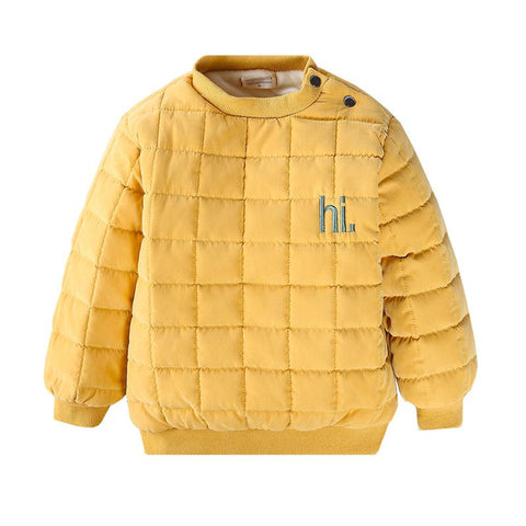 2018 New Super Soft Baby Boys Girls Solid letter sweaters Unix Long Sleeve Casual Thicken warm shirt Sweaters Baby Clothes j2