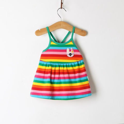 35ad9c3c221e8 2018 Sale Hot New Summer Baby Cotton Striped Sling Dress Girls Clothes  Princess Dresses Party Wedding Birthday Gift 0-2 Years