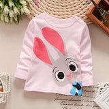 2018 Spring New Children's T-shirt Cotton Boys And Girl Korean Long-sleeved Bottoming Shirt Baby Baby Shoulder Coat