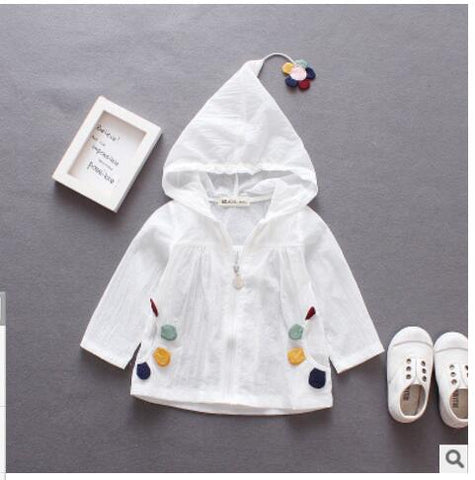 2018 Summer Style Korean Girls Outerwear Children's Sun Dresses Cartoon Cute Multi-color UV-proof Top Free Shipping