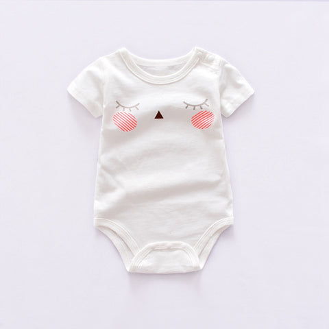 2018 new Baby Bodysuits Short Sleeve boy's sets animal Overall cotton infant Baby girls Jumpsuit Newborn Clothes mix design