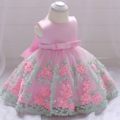 2018 vintage Baby Girl Dress Baptism Dresses for Girls 1st year birthday party wedding Christening baby infant clothing bebes
