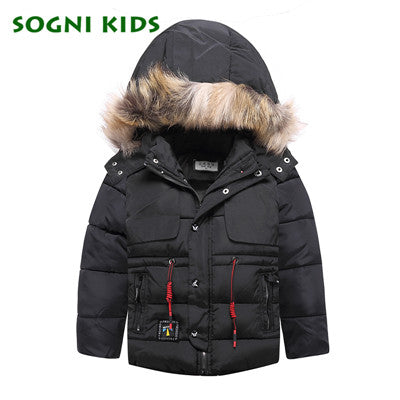 '-20C Fashion Children Boys Girls Coats 2018 Winter Kids Jacktet Warm Parka real fur Hooded Cotton Clothes Thicken Clothing