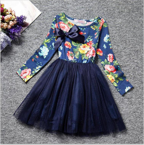f00f9e27f 3 4 5 6 7 8 Years Flower Girl Birthday Dress Wedding Kid's Party Costume  Children Girls Clothes Princess Baby Colorful Clothing