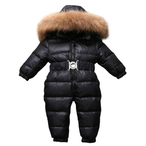'-30 Russian Winter Snowsuit 2018 Boy Baby Jacket 80% Duck Down Outdoor Infant Clothes Girls Climbing For Girl Kids Jumpsuit 1~4y