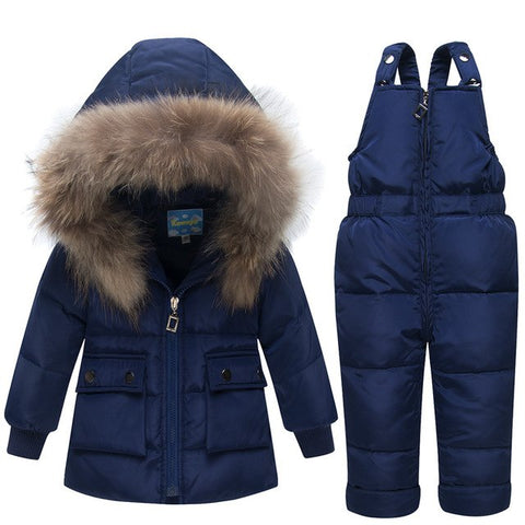 '-35 Degree Children Baby Winter Jackets Duck Down Co 2018 Kids Children Warm Clothing Girls Boys Down Thickening Outerwear