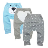 3pcs/Lot 2018 New Arrival 100% cotton baby pants cartoon print kids Trousers Unisex Baby Wear Infant product for Boy Girls 18M