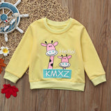 6M-24M Baby Girls Sweatshirt Kids Long Sleeve Tops Cotton 2018 Brand Winter Clothes Girls T shirts Children Clothing
