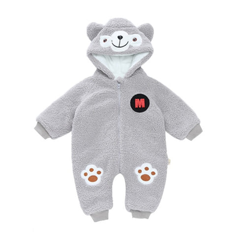 Baby Boys' Bodysuits Winter Costume Thicken Cute Teddy Bear Design Jumpsuit Newborn Baby Clothes Christmas Snowsuit