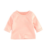 AmyaBaby Baby Long Sleeve Tops Solid Color Cotton Baby Girl Tops 2018 Casual Boys Girls T Shirts Infant Shirt Boys Girl Clothing