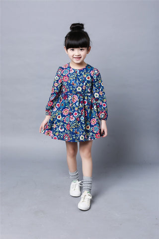 2018 Children's spring Dress Girls floral dress small children Korean fashion princess dress factory baby clothing