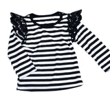 Autumn Newborn Baby Girls Toddler Kids Clothes Cotton Lace Long Sleeve T-shirts Tops